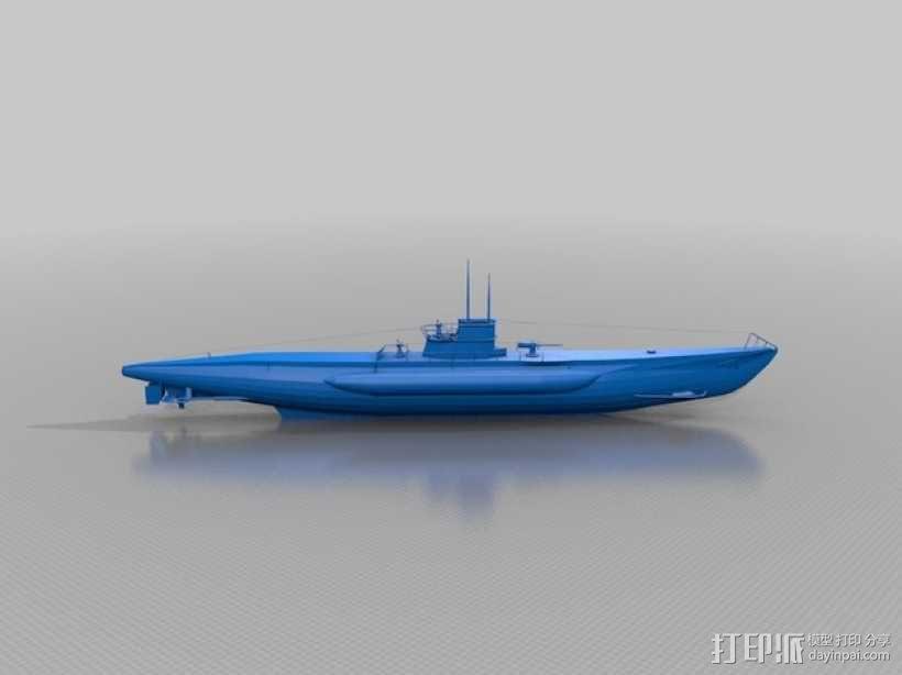 潜水艇 3D模型  图1