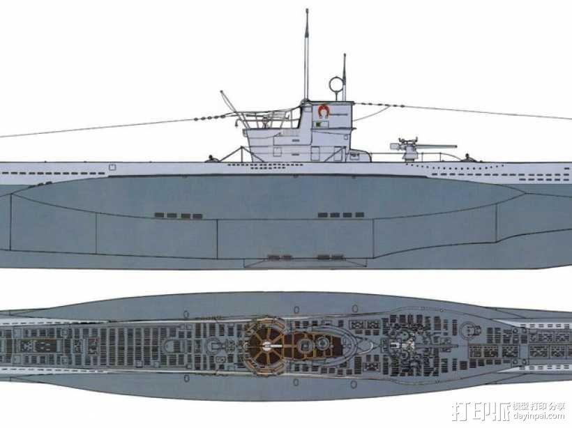 潜水艇 3D模型  图2