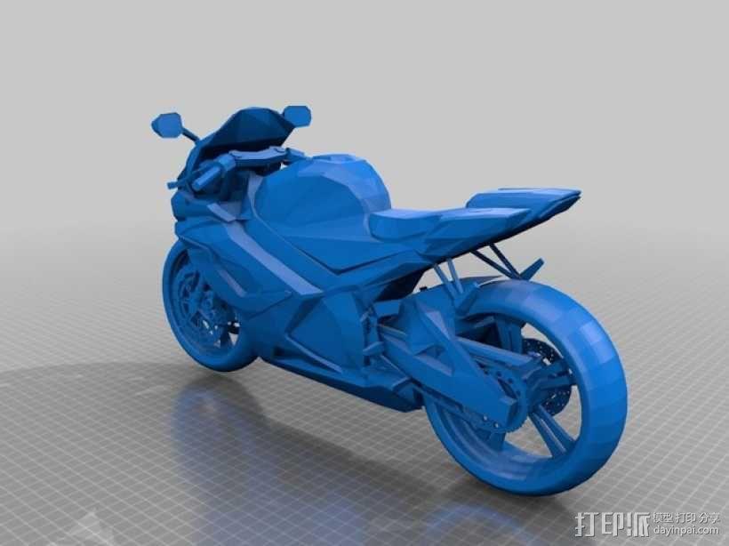 Suzuki GSX-R 750铃木摩托车 3D模型  图1