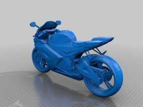 Suzuki GSX-R 750铃木摩托车 3D模型
