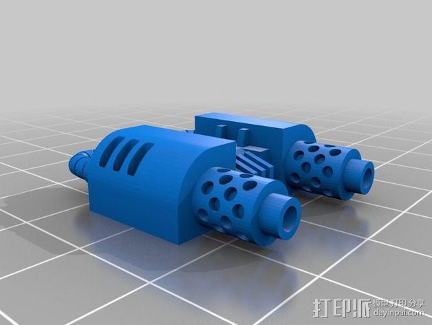 无畏号机器人替换件 3D模型  图2