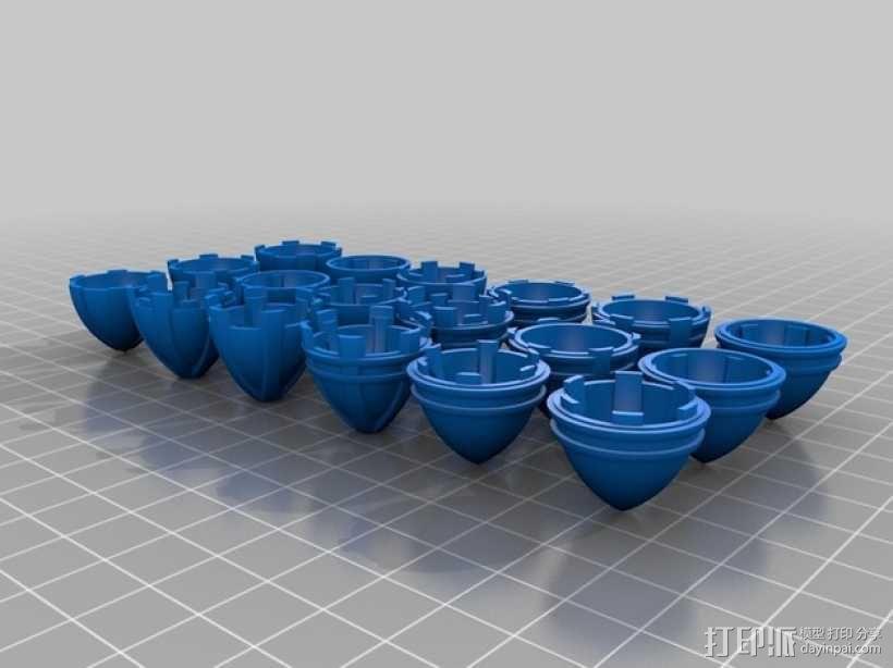 主推进器锥轮 3D模型  图2