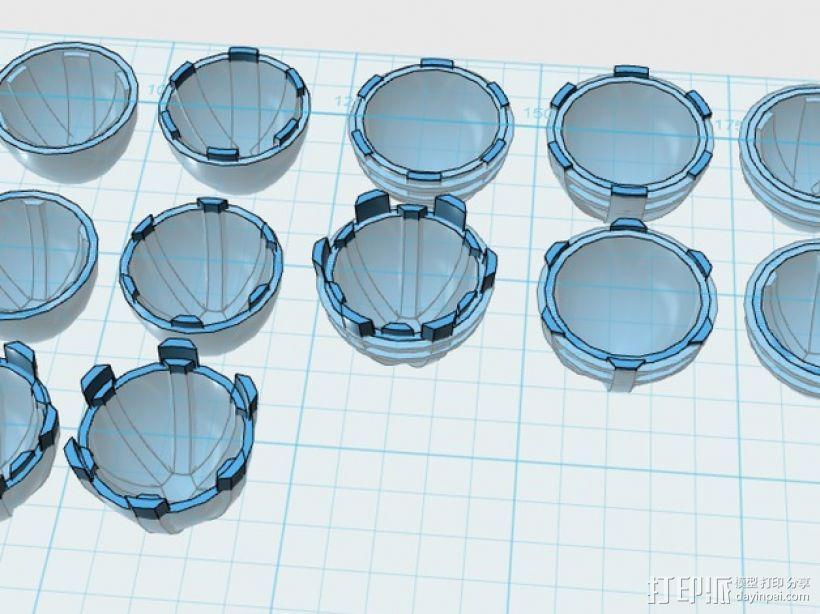 主推进器锥轮 3D模型  图1