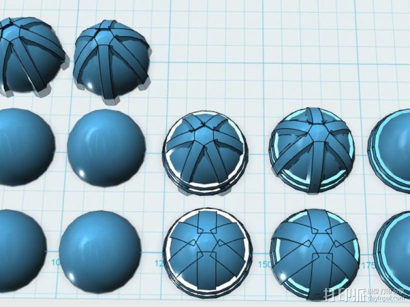 主推进器锥轮 3D模型  图4