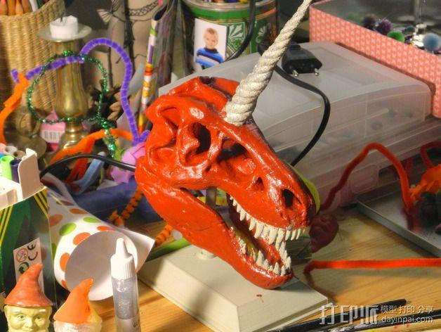 独角霸王龙 3D模型  图2