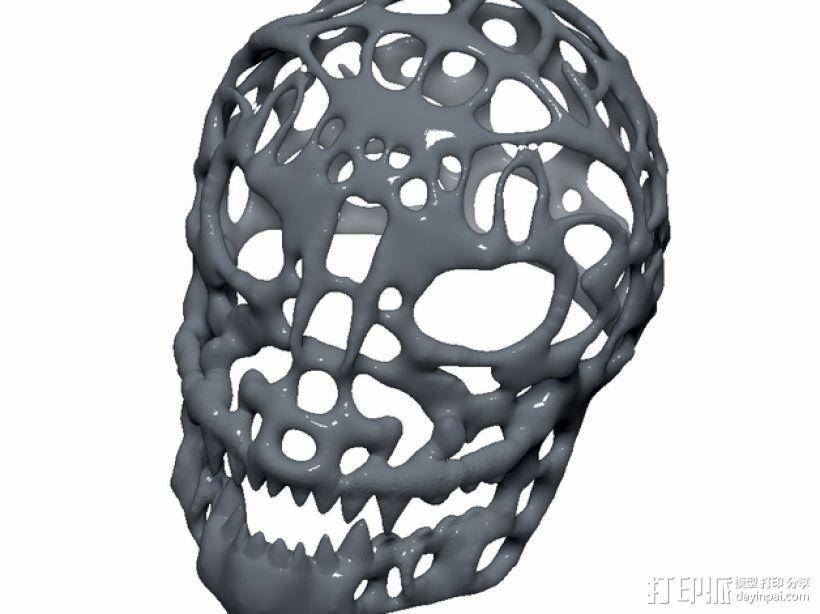 泰森多边形怪物头骨 3D模型  图1