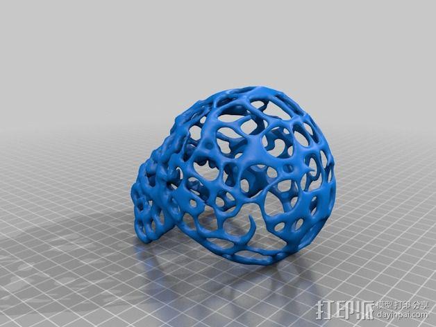 泰森多边形怪物头骨 3D模型  图2