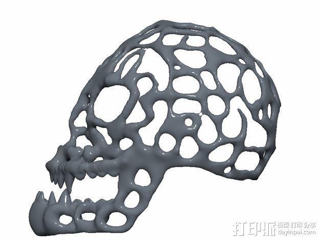 泰森多边形怪物头骨 3D模型  图3