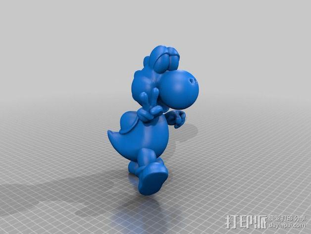 耀西小恐龙  3D模型  图3