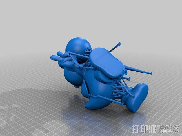 耀西小恐龙  3D模型  图4