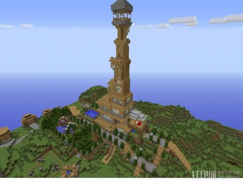 我的世界 建筑模型 3D模型  图1