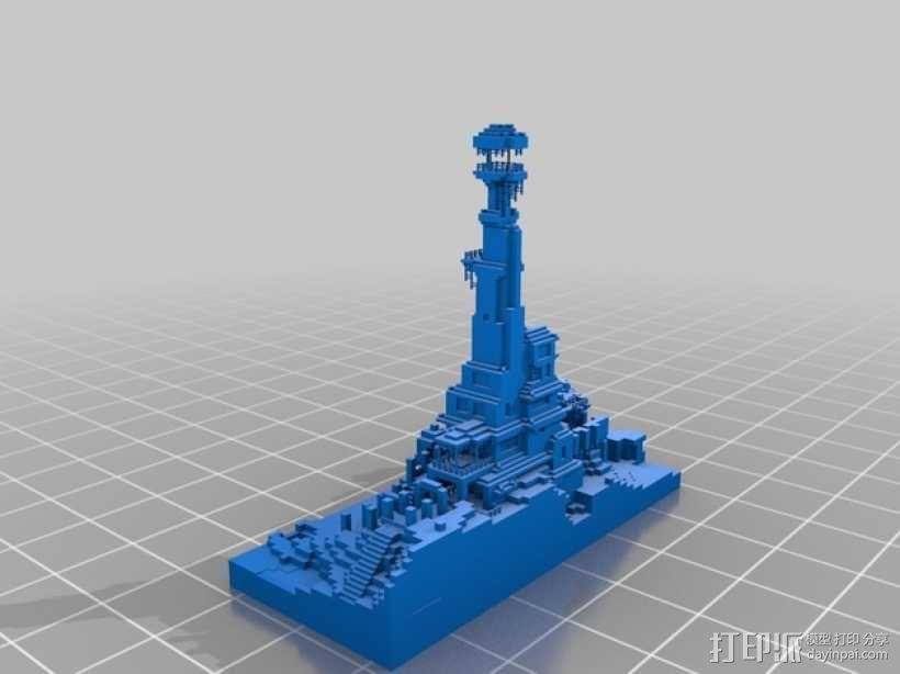 我的世界 建筑模型 3D模型  图2
