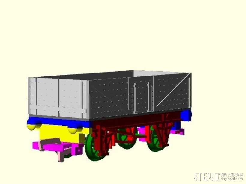 旧式货车 卡车  3D模型  图1