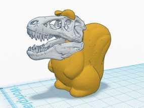 松鼠霸王龙 3D模型