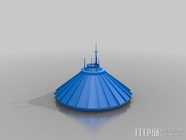 迪士尼飞跃太空山游戏建筑 3D模型  图2