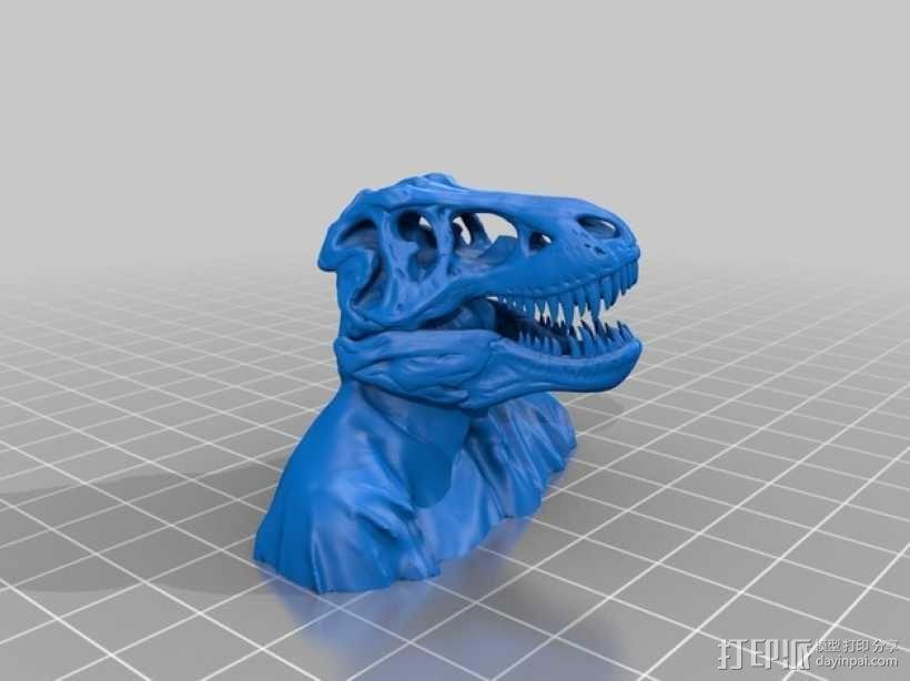 恐龙人像半身像 3D模型  图1