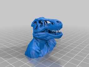 恐龙人像半身像 3D模型