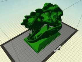 霸王龙头骨 3D模型