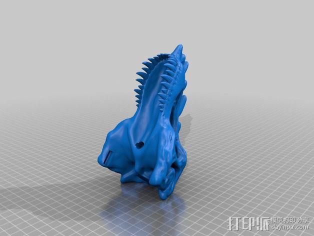 霸王龙头骨 3D模型  图3
