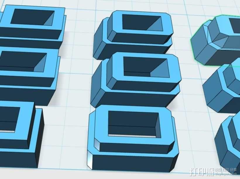 游标尺推进器 3D模型  图1