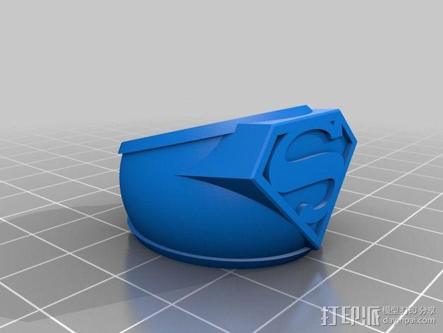 超人指环 3D模型  图2