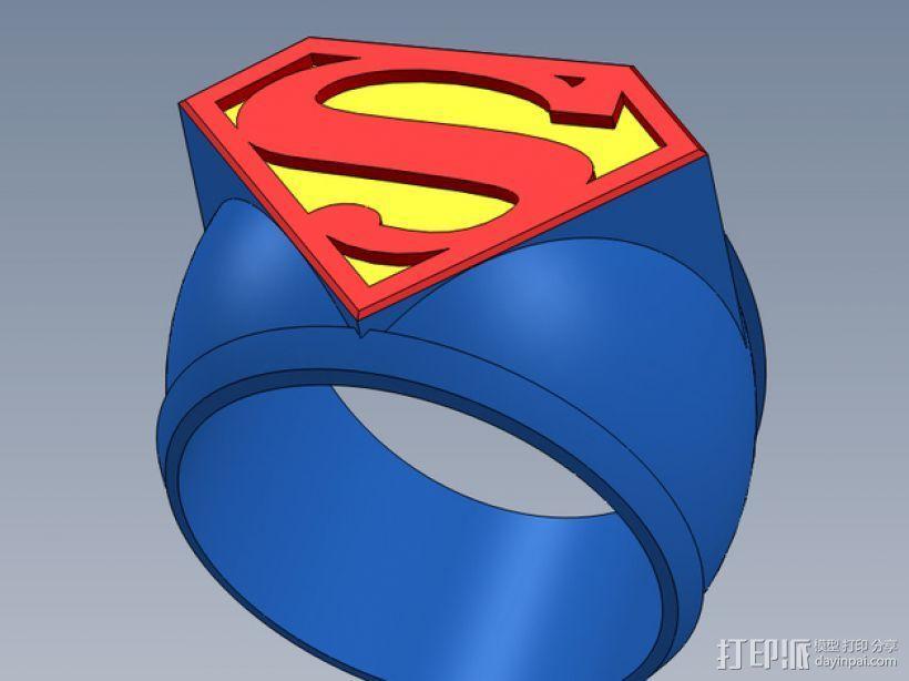 超人指环 3D模型  图1