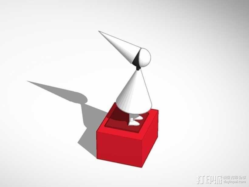 沉默的公主 游戏造型 3D模型  图1