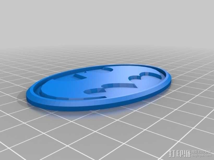 蝙蝠侠标志徽章 3D模型  图1