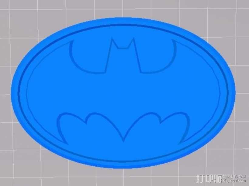 蝙蝠侠标志徽章 3D模型  图2