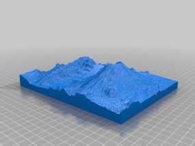 圣海伦火山地形模型 3D模型