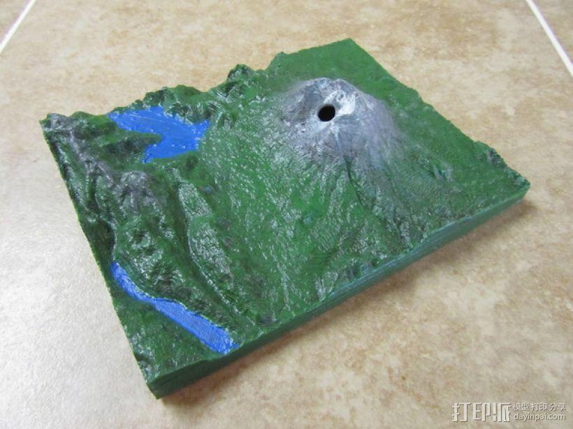 圣海伦火山地形模型 3D模型  图2