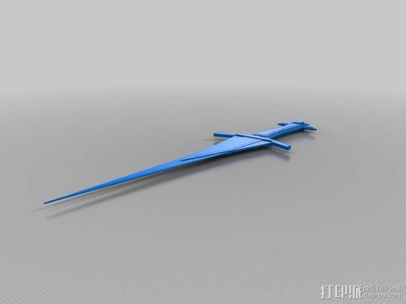 玩具剑  3D模型  图1