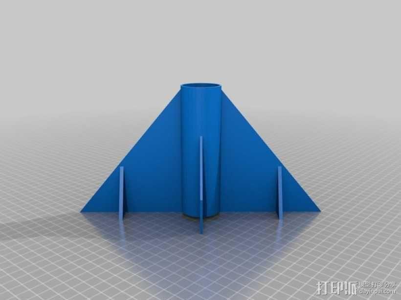 火箭底部 火箭鳍 3D模型  图1