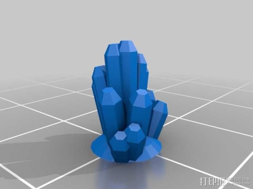水晶 3D模型  图1