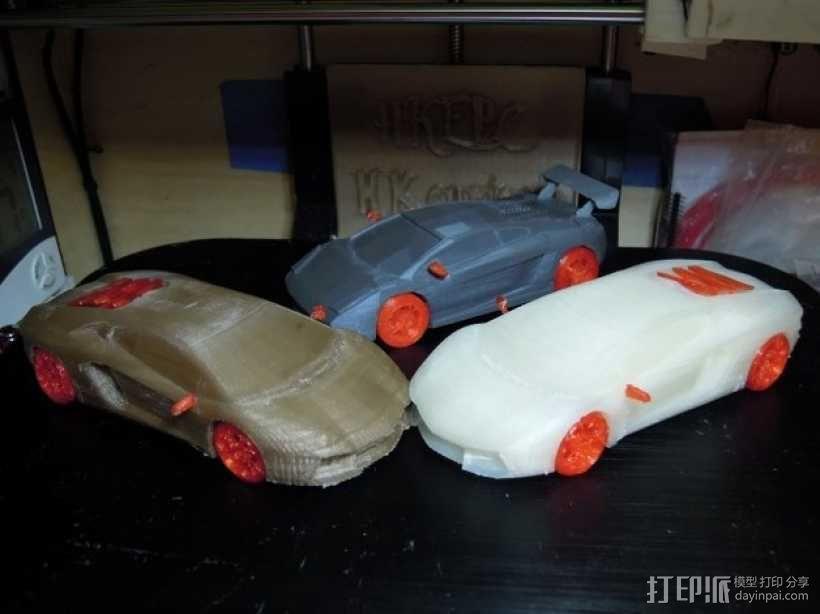 Lamborghini Aventador兰博基尼跑车 3D模型  图2
