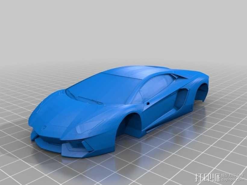 Lamborghini Aventador兰博基尼跑车 3D模型  图9