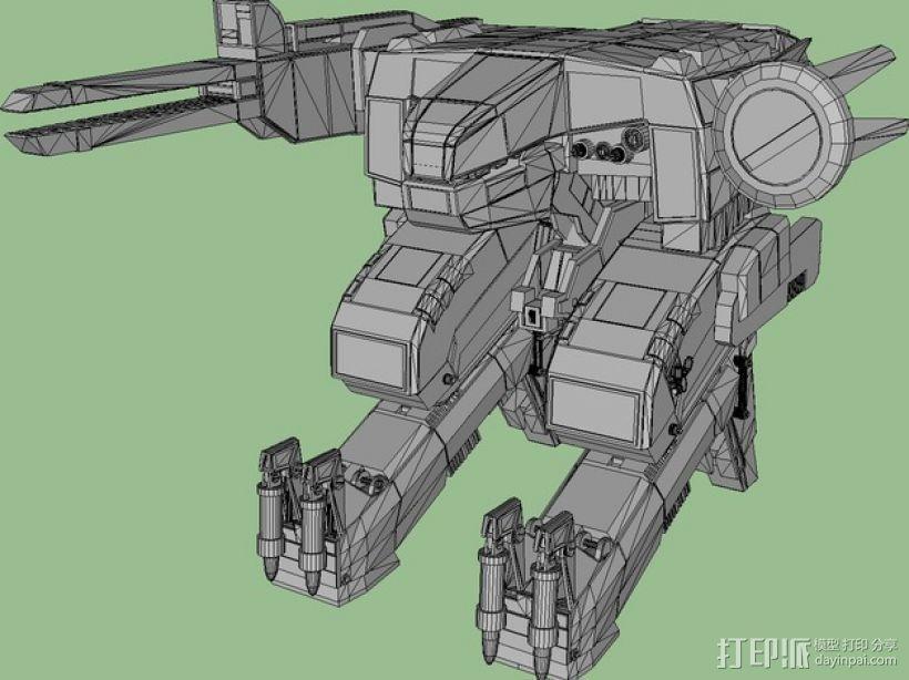 合金装备机甲 3D模型  图1