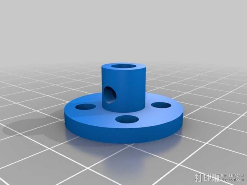 马达轮座 3D模型  图1