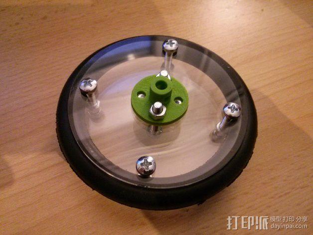 马达轮座 3D模型  图4
