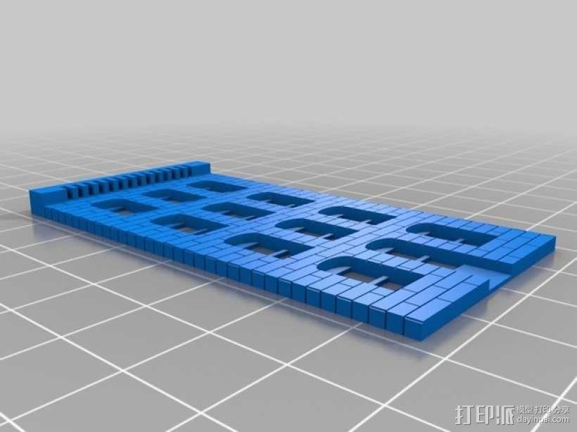 砖块楼房模型 3D模型  图1