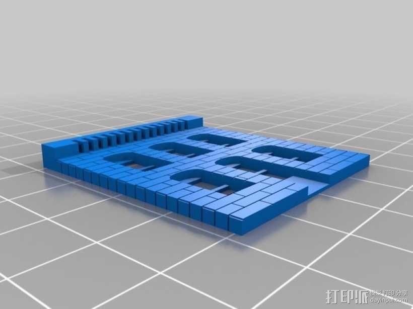 建筑物墙面 3D模型  图1