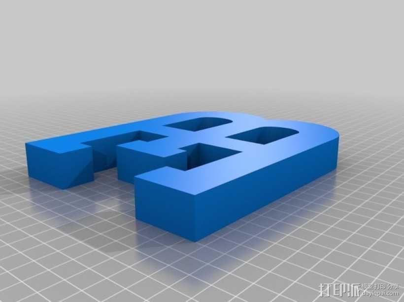 布加迪汽车标志 3D模型  图1