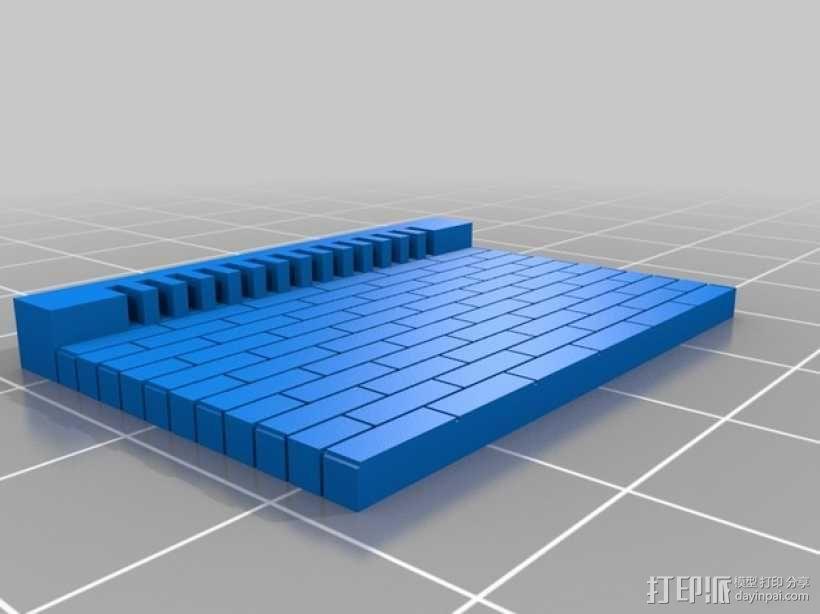 建筑墙壁 3D模型  图1