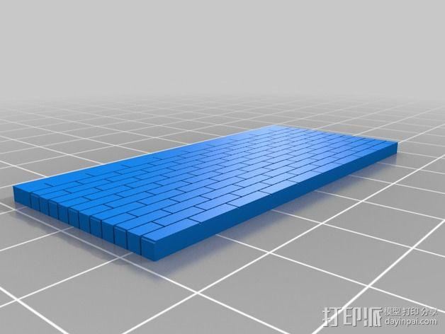 墙壁模型 3D模型  图1