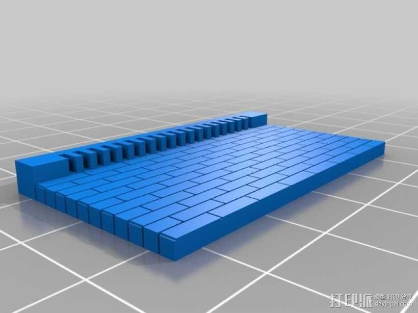 模组化墙壁 3D模型  图1