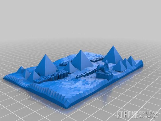 吉萨金字塔3D地图 3D模型  图2