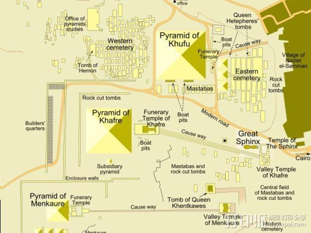 吉萨金字塔3D地图 3D模型  图3