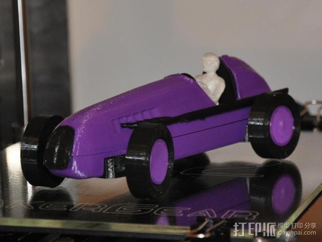 经典敞篷跑车 3D模型  图2