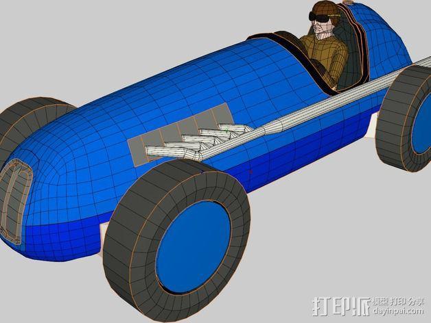 经典敞篷跑车 3D模型  图5