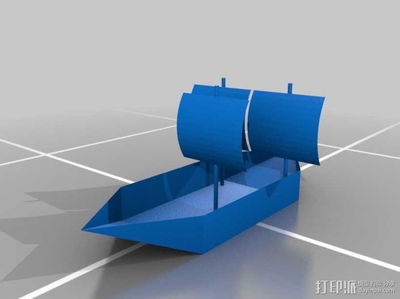 帆船 3D模型  图1
